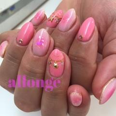 ピンクネイル♡サマーネイル♡